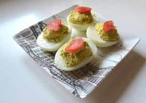 Avocado Deviled Eggs made for SNAP Challenge