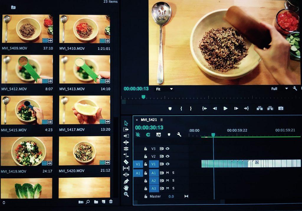Editing Recipe Videos