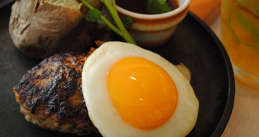 steak and egg meal